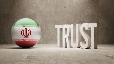 confianza concepto: Ir�n Confianza Concept Foto de archivo