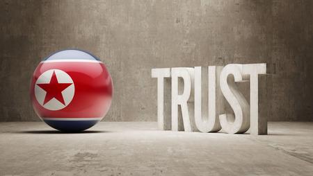 confianza concepto: Corea del Norte Concepto Confianza Foto de archivo