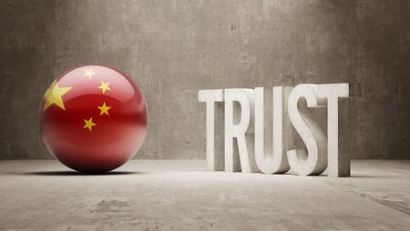 China  Trust Concept