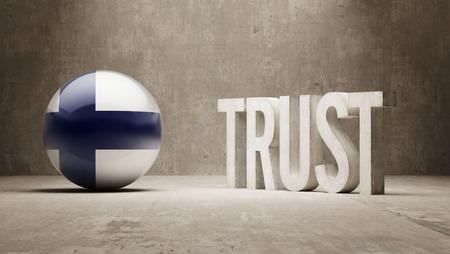 confianza concepto: Finlandia Confianza Concept Foto de archivo