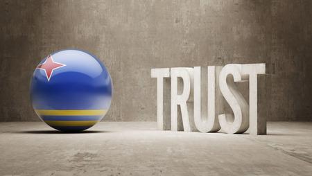 reliance: Aruba  Trust Concept Stock Photo