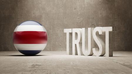 confianza concepto: Costa Rica Concepto Confianza Foto de archivo