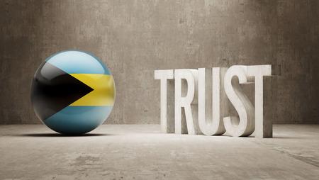 confianza concepto: Bahamas Confianza Concept Foto de archivo