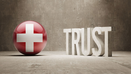 reliance: Switzerland   Trust Concept Stock Photo