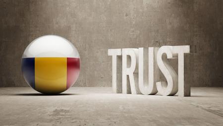 reliance: Romania   Trust Concept Stock Photo