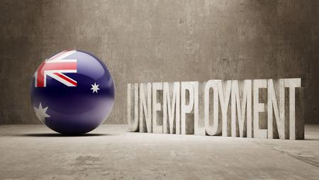 unemployment: Australia   Unemployment Concept