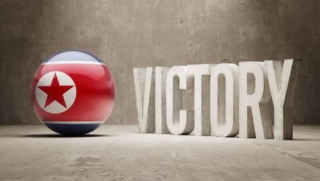 north korea: North Korea Victory Concept Stock Photo
