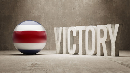 costa rica: Costa Rica Victory Concept Stock Photo