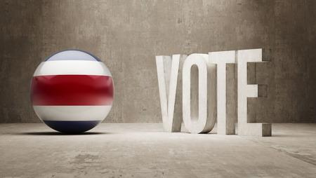 costa rica: Costa Rica   Vote Concept