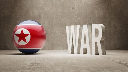 north korea: North Korea  War Concept Stock Photo