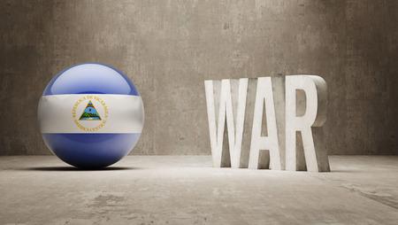 tussle: Nicaragua War Concept Stock Photo