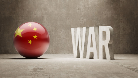 controversy: China   War Concept Stock Photo