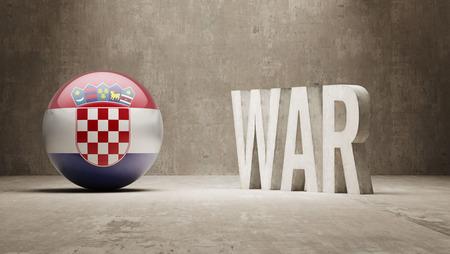 tussle: Croatia War Concept Stock Photo
