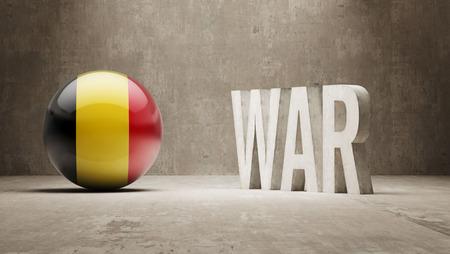 tussle: Belgium  War Concept