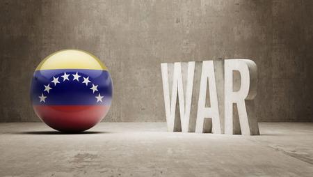 tussle: Venezuela  War Concept