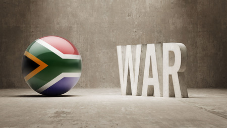 tussle: South Africa   War Concept Stock Photo