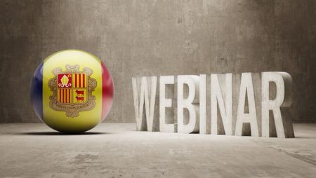 andorra: Andorra  Webinar Concept Stock Photo