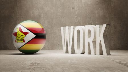 zimbabwe: Zimbabue Concepto Trabajo