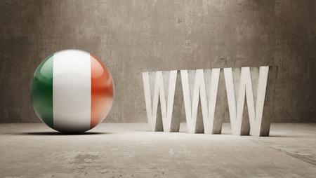 url virtual: Ireland   WWW Concept
