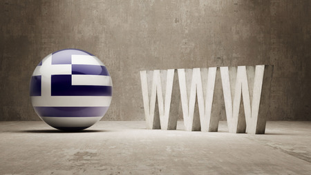 url virtual: Greece  WWW Concept