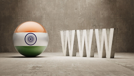 url virtual: India   WWW Concept Stock Photo