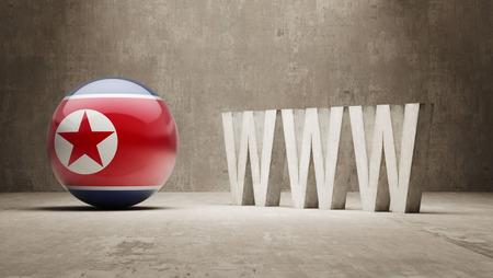 url virtual: North Korea WWW Concept Stock Photo