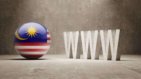 url virtual: Malaysia  WWW Concept
