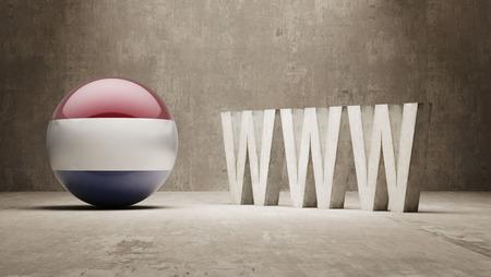 url virtual: Netherlands  WWW Concept Stock Photo