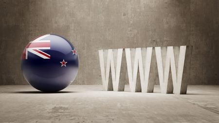 url virtual: New Zealand  WWW Concept Stock Photo