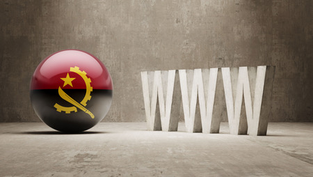 url virtual: Angola WWW Concept Stock Photo