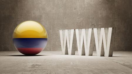 url virtual: Colombia  WWW Concept