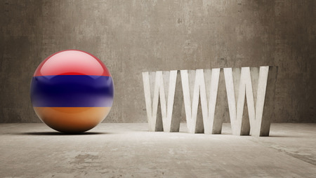 url virtual: Armenia  WWW Concept Stock Photo