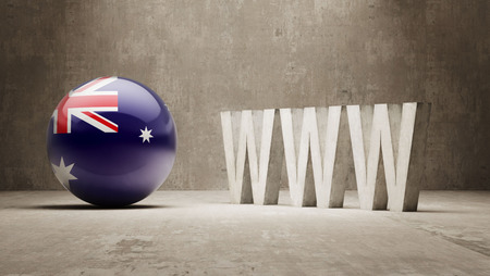 url virtual: Australia  WWW Concept