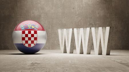 url virtual: Croatia  WWW Concept Stock Photo