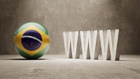 url virtual: Brazil   WWW Concept