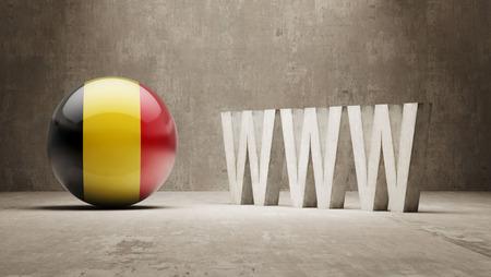 url virtual: Belgium   WWW Concept Stock Photo