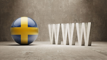 url virtual: Sweden   WWW Concept Stock Photo