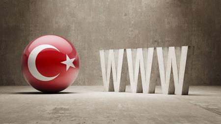 url virtual: Turkey  WWW Concept