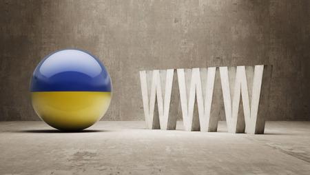 url virtual: Ukraine WWW Concept Stock Photo