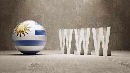 url virtual: Uruguay  WWW Concept
