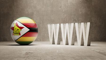 url virtual: Zimbabwe High Resolution WWW Concept Stock Photo