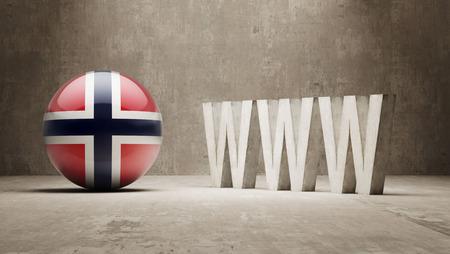 url virtual: Norway  WWW Concept