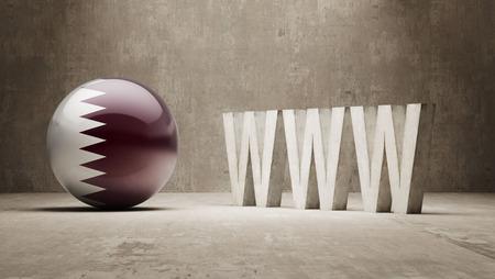 url virtual: Qatar  WWW Concept Stock Photo