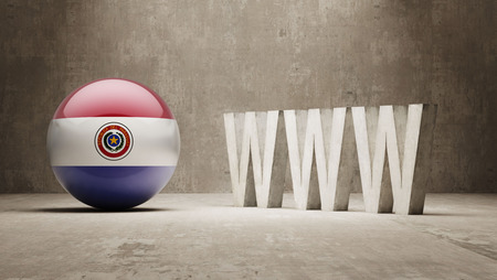 url virtual: Paraguay High Resolution WWW Concept
