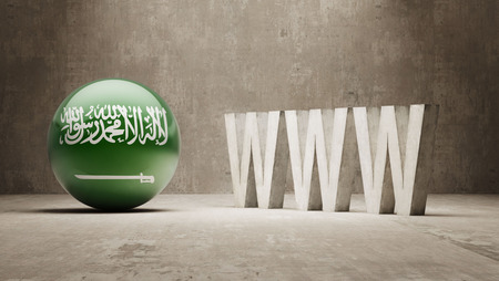 url virtual: Saudi Arabia High Resolution WWW Concept Stock Photo