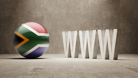 url virtual: South Africa High Resolution WWW Concept