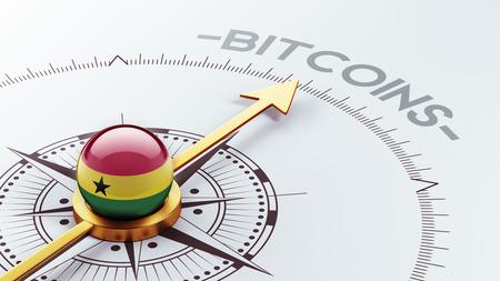 electronic guide: Ghana High Resolution Bitcoin Concept Stock Photo