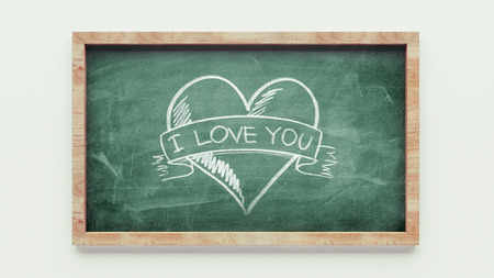 Chalkboard Drawing isolated on white  photo