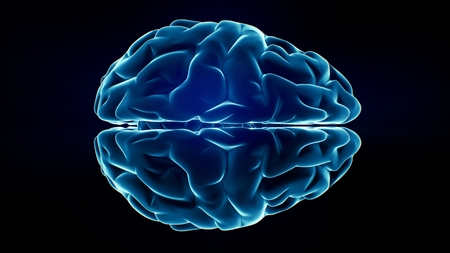 Xray Brain isolated on black background Stock Photo