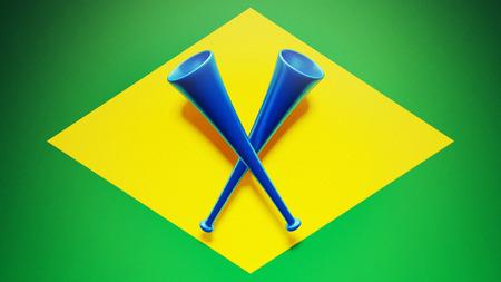 Cornets haute résolution drapeau du Brésil Banque d'images - 28430619